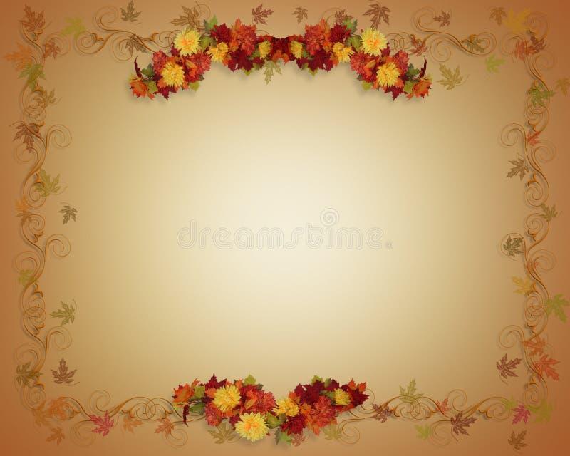 A queda deixa o fundo do outono ilustração do vetor
