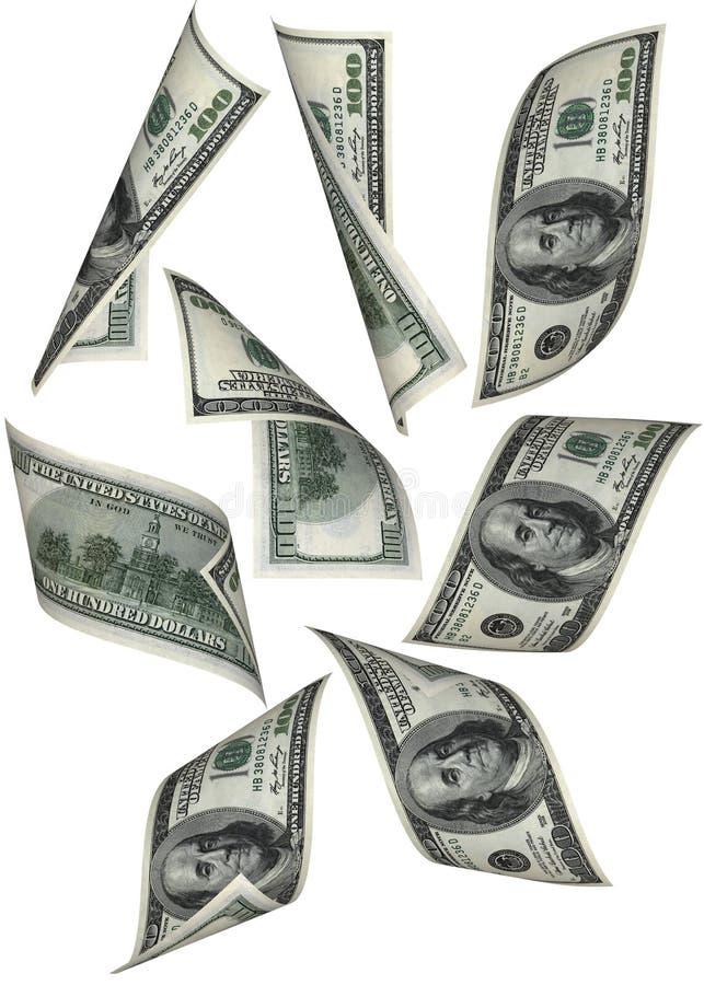 Queda do dinheiro imagem de stock