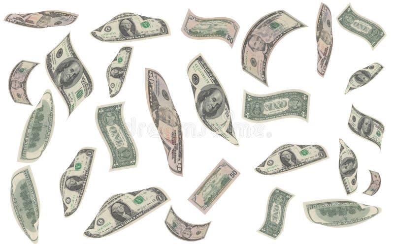 Queda do dinheiro ilustração stock