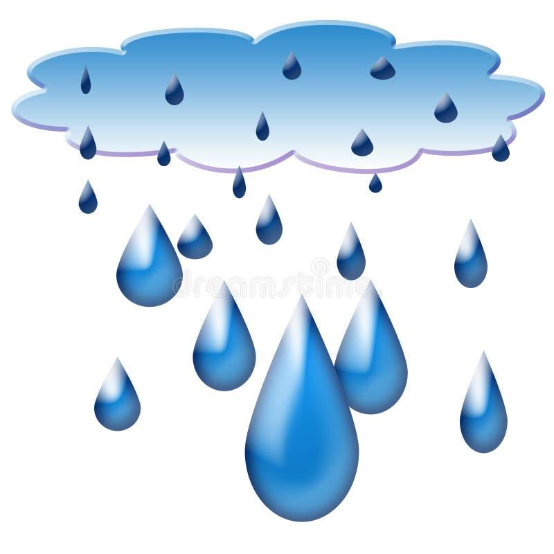 Queda do furo ou da nuvem & da água imagem de stock