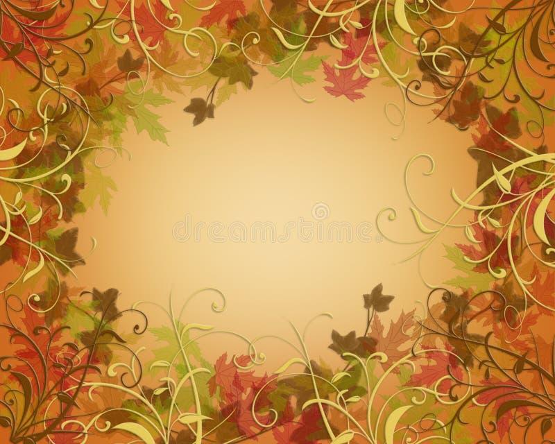 A queda do outono da acção de graças deixa a beira ilustração royalty free