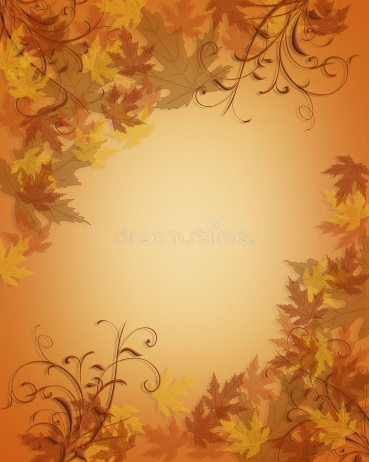 A queda do outono da acção de graças deixa o fundo