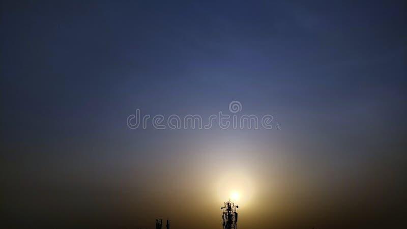 Queda do sol imagens de stock royalty free