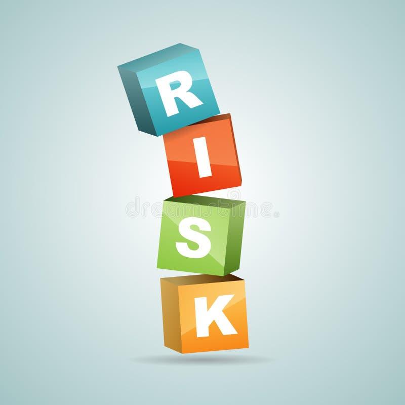 Queda dos blocos do risco ilustração royalty free