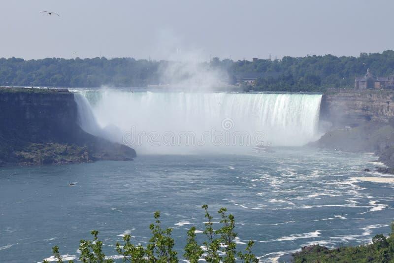 Queda em ferradura Niagara Falls Ontário Canadá imagem de stock