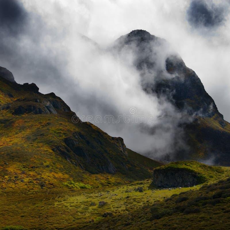 Queda em Himalayas de Tibet imagem de stock royalty free