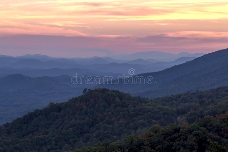 Queda no parque nacional de Great Smoky Mountains fotos de stock