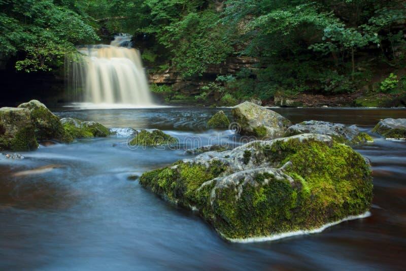 Queda ocidental de Burton, Dales NP de Yorkshire, Reino Unido fotos de stock