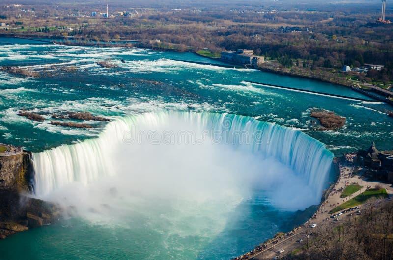 Quedas da sapata do cavalo de Niagara Falls Ontário Canadá fotos de stock