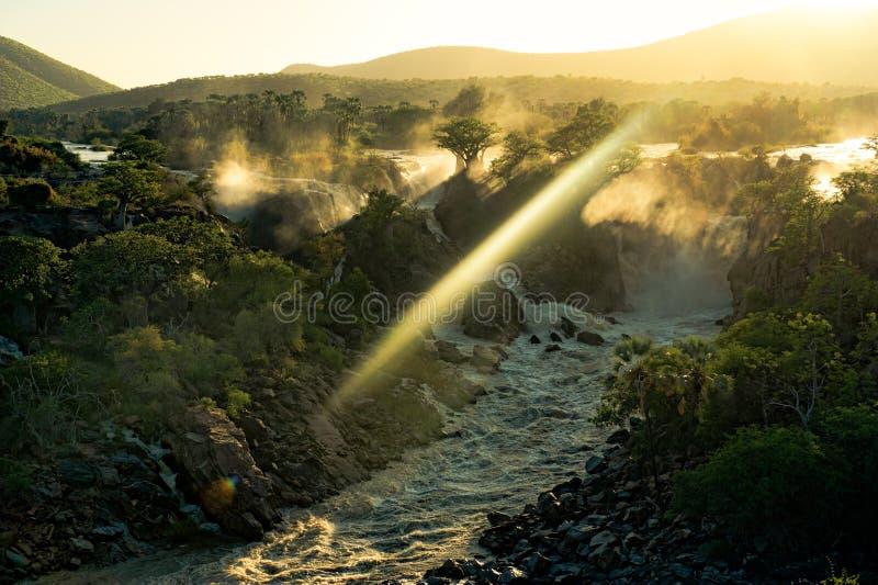 Quedas de Epupa, Namíbia, África fotografia de stock
