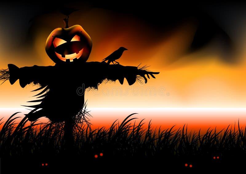 Quedas de Halloween ilustração royalty free