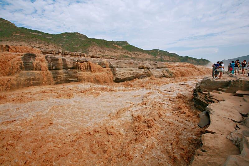 Quedas de Hukou do Rio Amarelo imagem de stock royalty free