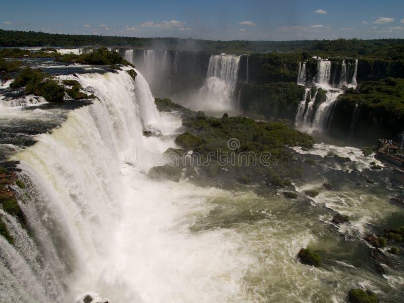 Quedas de Iguassu, Brasil. imagens de stock