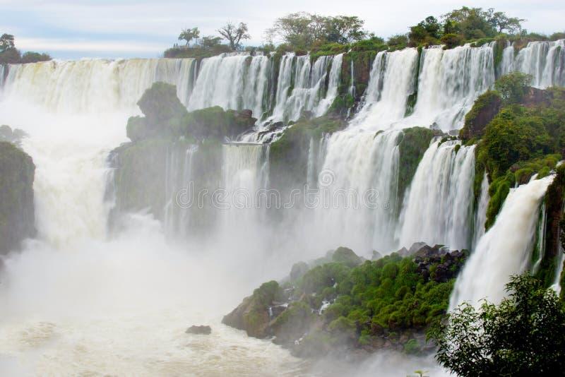 Quedas de Iguassu, a série a maior de cachoeiras do mundo, Argentina fotografia de stock
