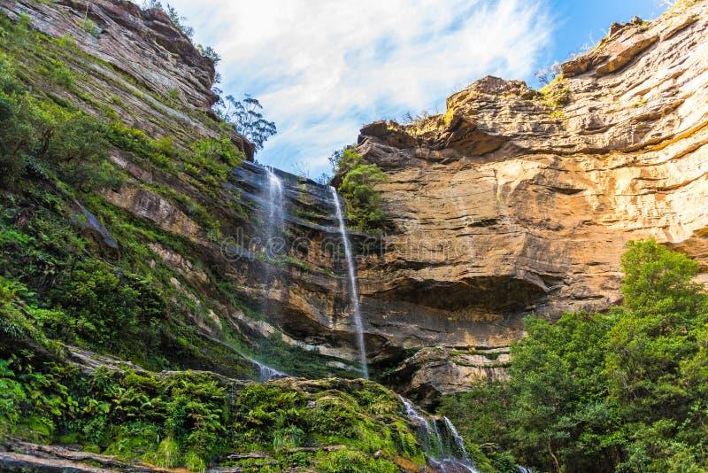 Quedas de Katoomba, montanhas azuis parque nacional, Austrália fotos de stock royalty free