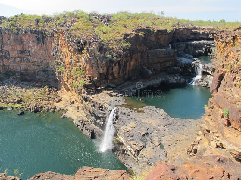 Quedas de Mitchell, kimberley, Austrália ocidental fotografia de stock