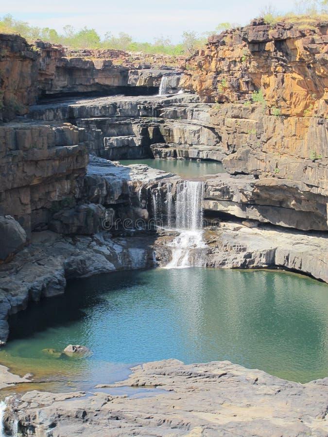 Quedas de Mitchell, kimberley, Austrália ocidental fotos de stock