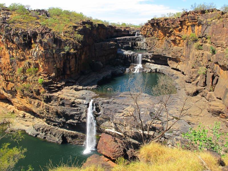 Quedas de Mitchell, kimberley, Austrália ocidental foto de stock