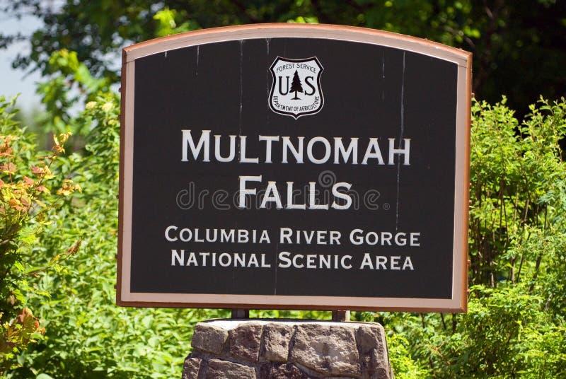 Quedas de Multnomah foto de stock