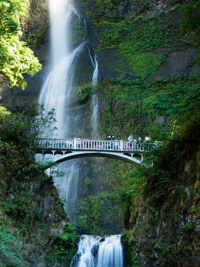 Quedas de Multnomah em Oregon, EUA fotos de stock