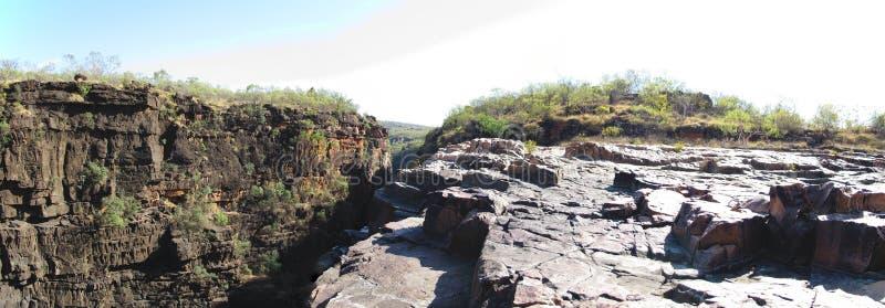 Quedas de Panorma - de Mitchell, kimberley, Austrália ocidental foto de stock