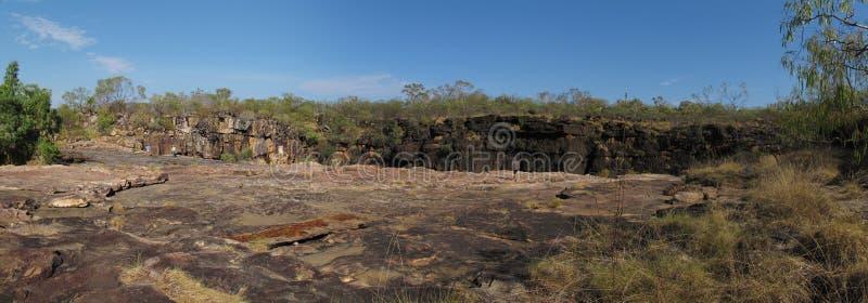 Quedas de Panorma - de Mitchell, kimberley, Austrália ocidental fotografia de stock