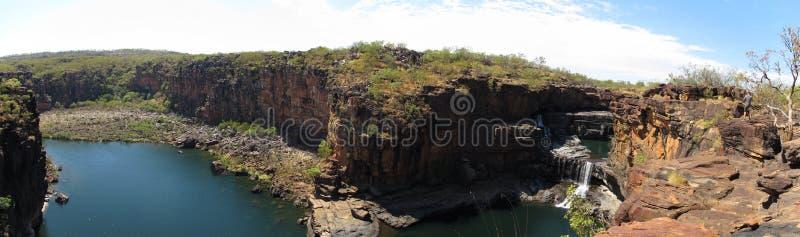 Quedas de Panorma - de Mitchell, kimberley, Austrália ocidental fotos de stock