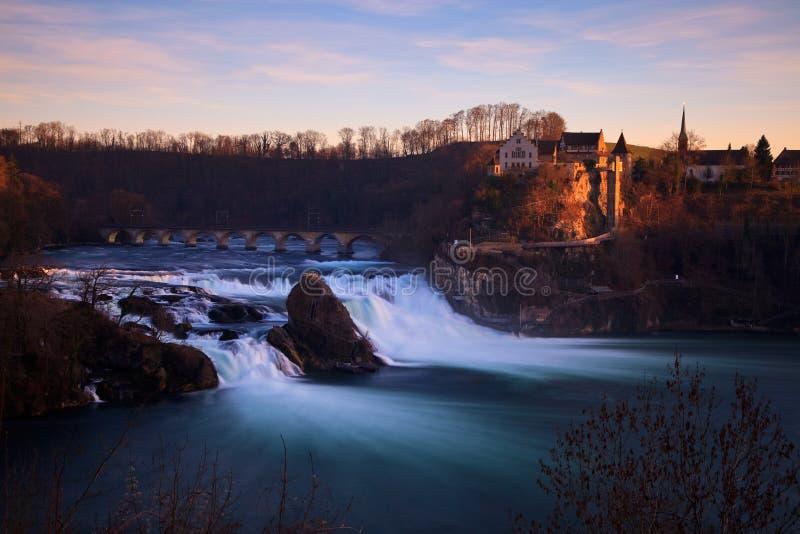 Quedas de Rhine - Rheinfall fotos de stock