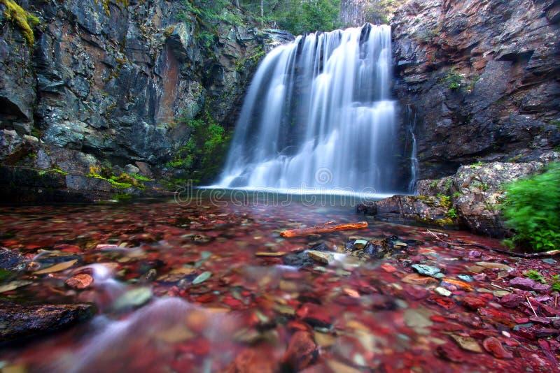 Quedas de Rockwell de Montana fotografia de stock royalty free