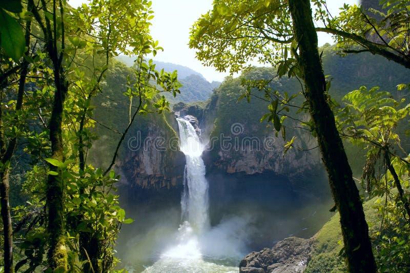 Quedas de San Rafael equador fotografia de stock royalty free