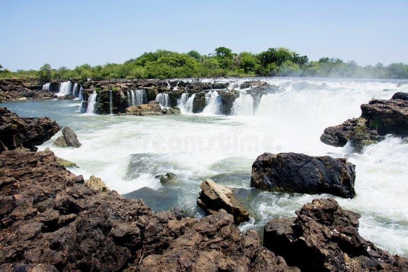 Quedas de Sioma, Zâmbia fotos de stock royalty free