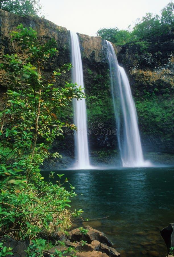 Quedas de Wailua imagem de stock royalty free