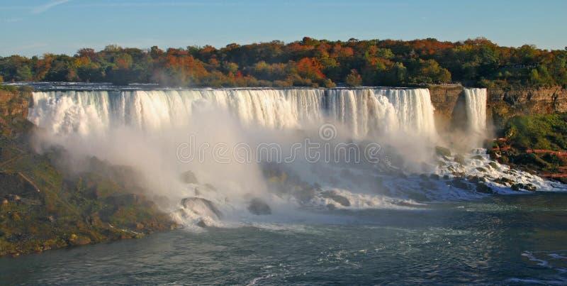 Quedas do americano de Niagara Falls fotografia de stock