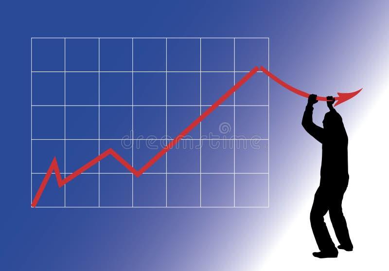 Quedas do gráfico foto de stock royalty free