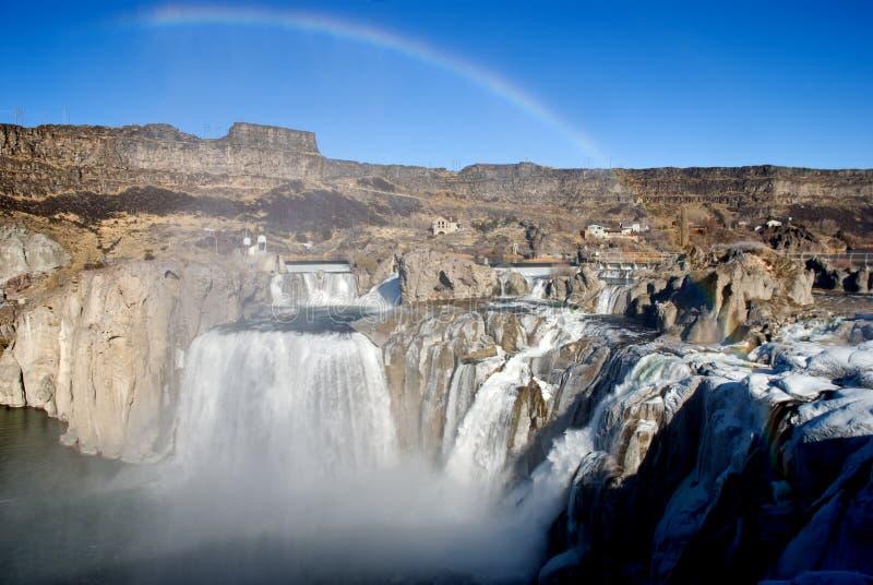 Quedas do Shoshone, Idaho foto de stock royalty free
