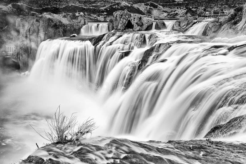 Quedas do Shoshone, Idaho foto de stock