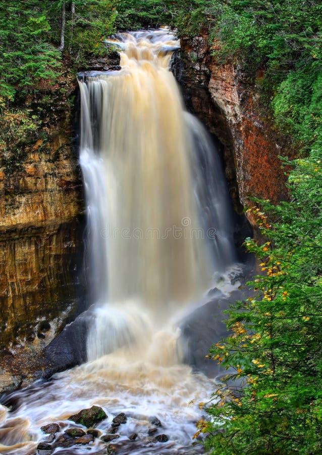 Quedas dos mineiros em Michigan fotografia de stock royalty free