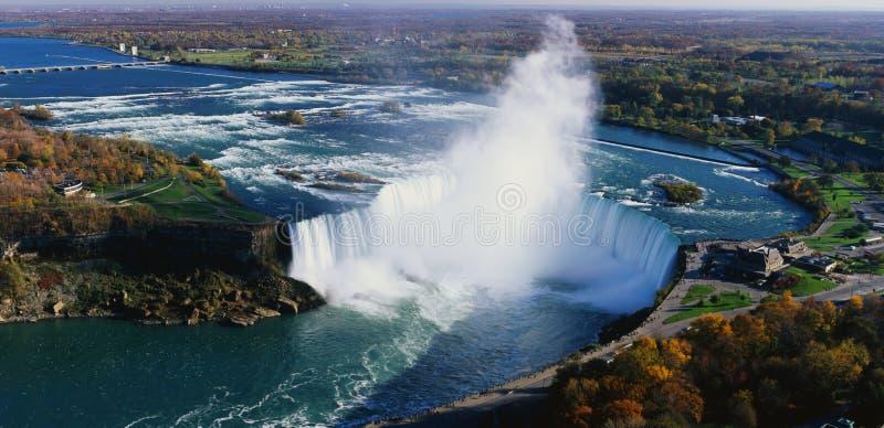 Quedas em ferradura, Niagara Falls imagem de stock