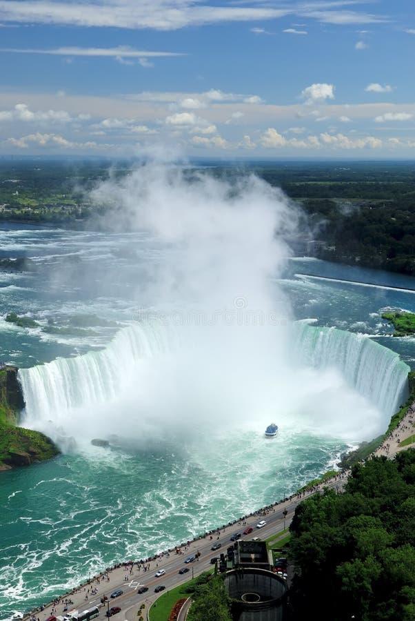 Quedas em ferradura, Niagara Ontário fotografia de stock
