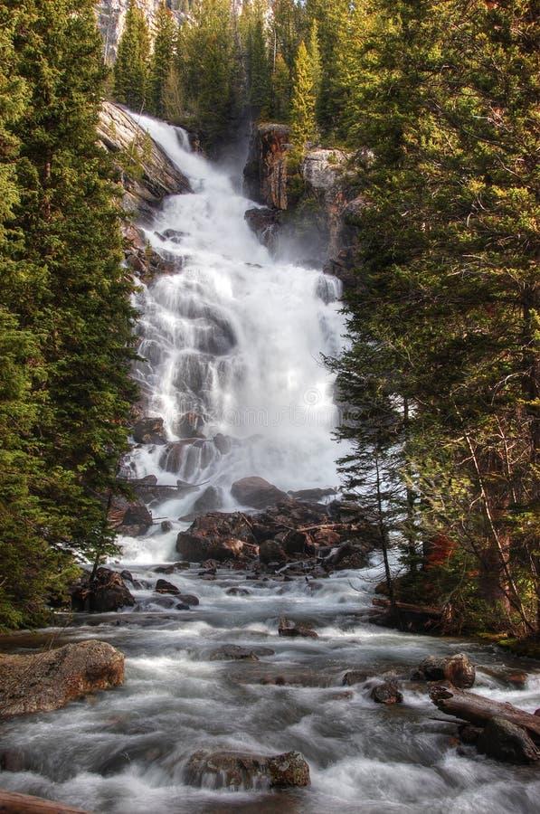 Quedas escondidas, parque nacional grande de Teton fotografia de stock royalty free