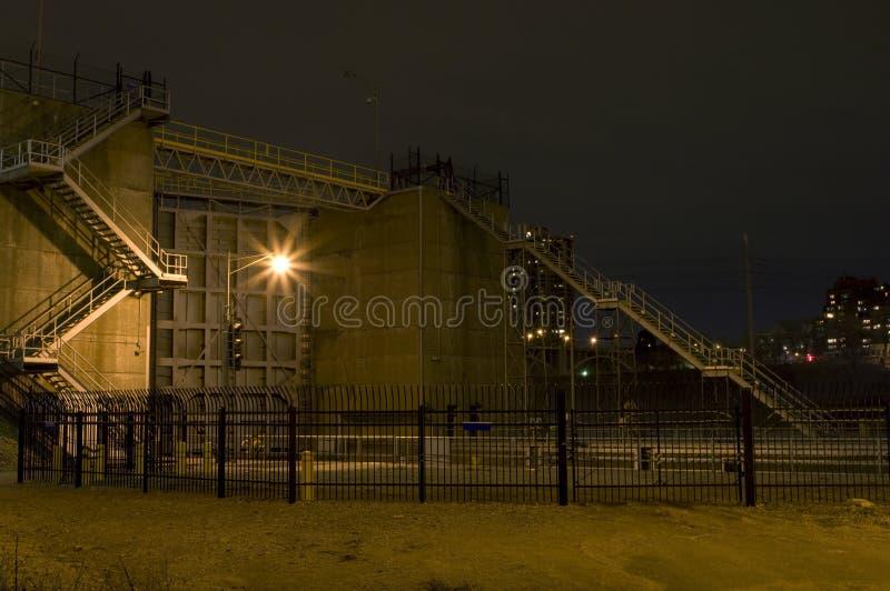 Quedas fechamento de Anthony de Saint e fachada da represa fotos de stock