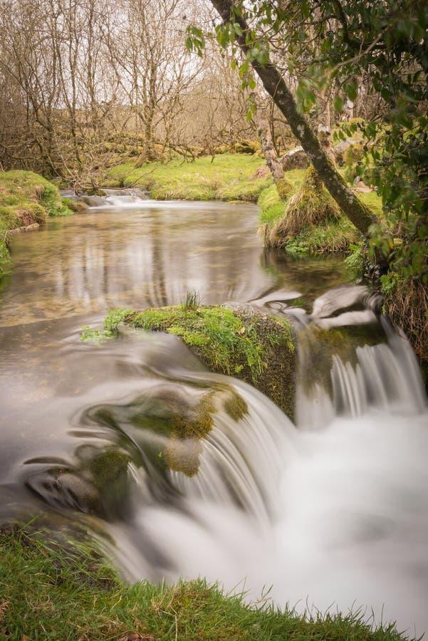 Quedas pequenas de Dartmoor fotografia de stock