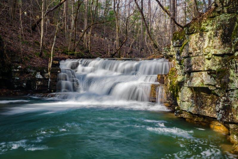 Quedas principais das cachoeiras das minas de Fenwick fotografia de stock