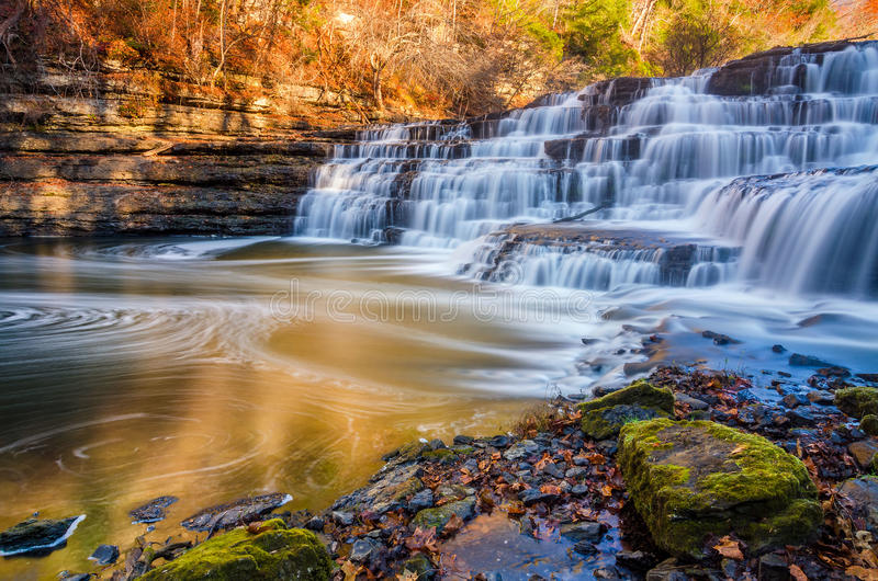 Quedas superiores, Burgess Falls State Park imagem de stock royalty free