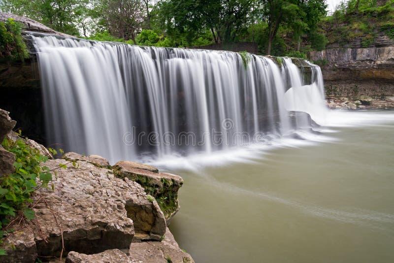 Quedas superiores da catarata de Indiana foto de stock