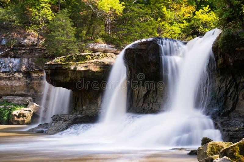 Quedas superiores da catarata, Indiana imagem de stock
