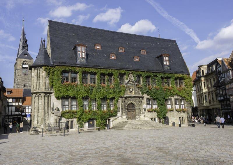 quedlinburg för marknadsställe royaltyfri bild