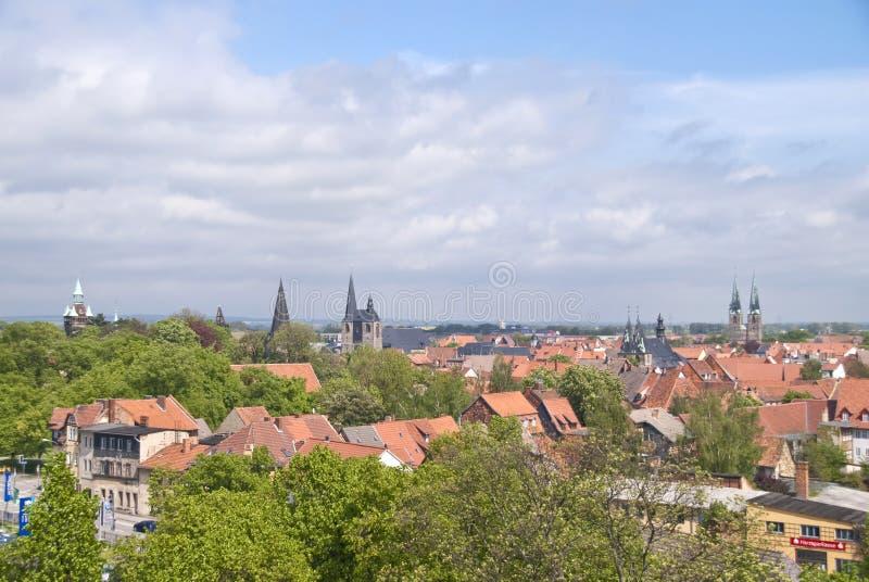 Quedlinburg Tyskland royaltyfri foto