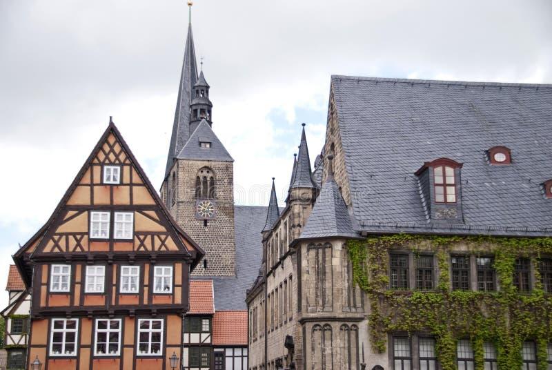 Quedlinburg Tyskland arkivbilder