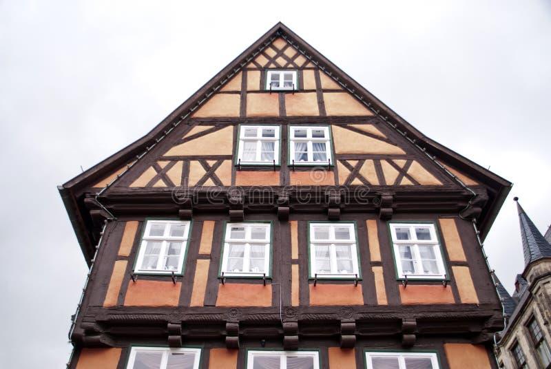 Quedlinburg Tyskland fotografering för bildbyråer